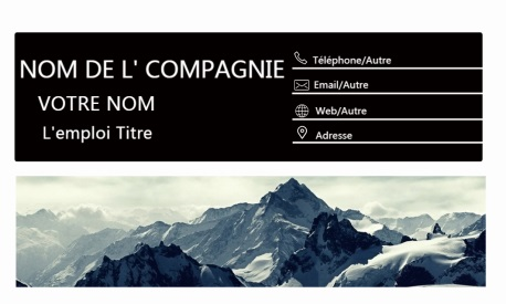Fond simple et cool Cartes de visite de fond de neige