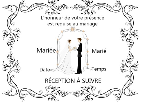 Carte d'invitation de mariage flamenco enthousiaste et color茅