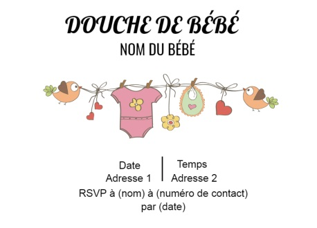 Invitation populaire et tendance Little Baby ALL-STAR