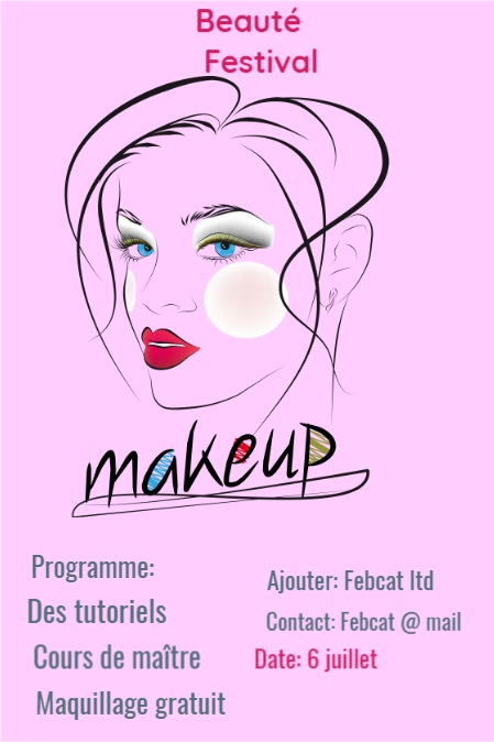 Maquilleur Salon de beaut茅 Cils Flyer Rose Spark
