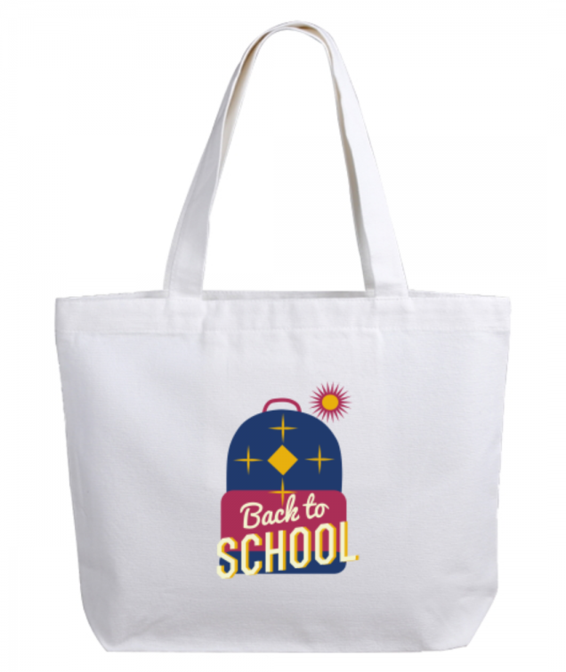Joli sac imprim茅 dessus back to school happy